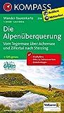 Die Alpen�berquerung - Vom Tegernsee �ber Achensee und Zillertal nach Sterzing: Wander-Tourenkarte. GPS-genau. 1:50000 (KOMPASS-Wander-Tourenkarten, Band 2556) Bild