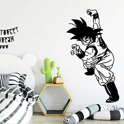zhuziji Dragonball Goku Vinyl Wandaufkleber Wohnkultur Aufkleber Für Wohnzimmer Schlafzimmer Dekor Wandtattoo Wohnkultur 888-1 Mt 30 cm X 53 cm -