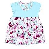 TupTam Baby Mädchen Body-Kleid Kurzarm Sommerkleid Baumwolle, Farbe: Blumen Türkis, Größe: 86
