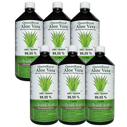 QueenRoyal Aloe Vera Trink Gel 99.55% pur 6 Liter Sparpack #30254 G