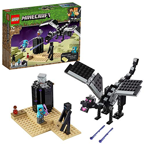 LEGO 21151 Minecraft The End Battle Building Kit, Colourful Best Price and Cheapest