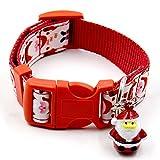 CHIC*MALL Pet Decor Collar Xmas Print Pet Dog Cat Collar Gift (S-1)