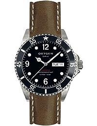 University Sports Press EX-D-MOB-40-CL-DB - Reloj de cuarzo unisex, correa de cuero color marrón