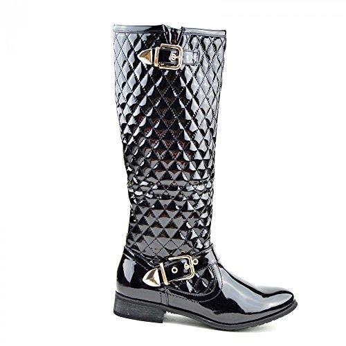 Kick Footwear, Stivali donna (Black Patent)
