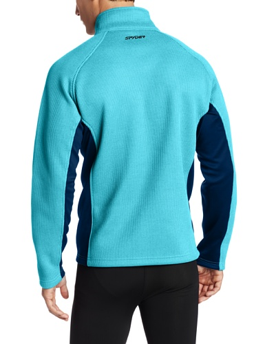 Spyder Herren Outbound 1/2 Zip Core Sweater Tsunami/Poseidon/Neon Green