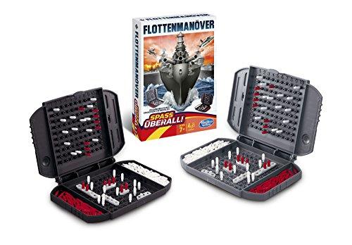 Versenken (Hasbro Spiele B0995100 - Flottenmanöver Kompakt, Reisespiel)