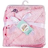 EIO® Carter Baby Fleece Double Layer Blanket (76 X 100 Cm) (Pink MoonStars)