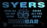 q44145-b SYERS Family Name Home Bar Beer Mug Cheers Neon Light Sign