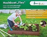 Hochbeet Bausatz witterungs- UV-beständigem Kunststoff Gemüse, Kräuter, Frühbeet