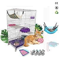 XINXINRAN Jaula De Gato - Villa De Gato - Nido De Gato Plegable - Casa De Gato - Artículos para Mascotas,Black