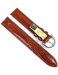 Maurice Lacroix Ersatzband Uhrarmband Echt Teju-Eidechsen-Leder Braun 21551S, Stegbreite:20mm