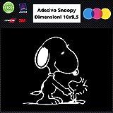 Snoopy 006Auto KFZ/Notebook Aufkleber, weiß, Auto Zubehör