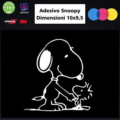 Snoopy 006Auto KFZ/Notebook Aufkleber, weiß, Auto Zubehör (Aufkleber Kfz-zubehör)