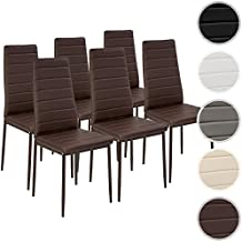 tectake set de sillas de comedor xxcm marrn
