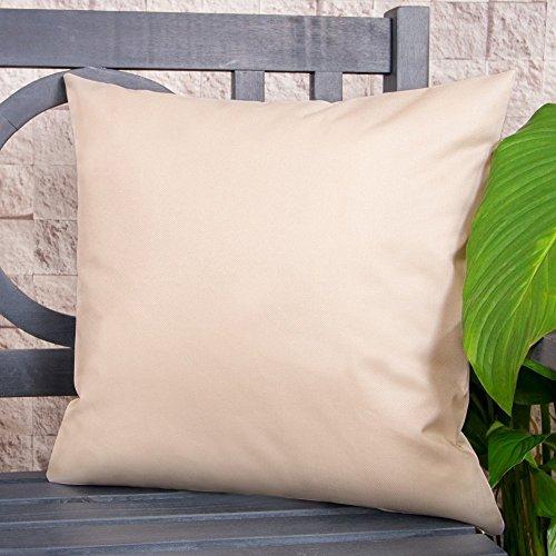 Gartenkissen Sitzpolster – 43cm x 43cm – Wasserabweisend mit einer Textilfaserfüllung –...