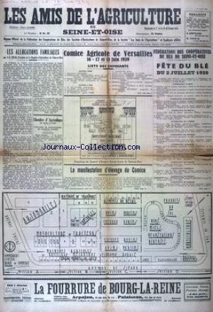 AMIS DE L'AGRICULTURE DE SEINE ET OISE (LES) du 15/06/1939