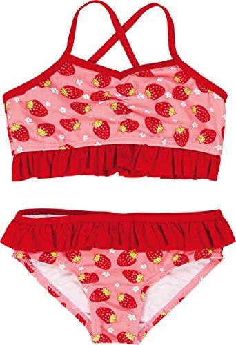 Badeanzug Erdbeer (Playshoes Mädchen Zweiteiler Bikini Erdbeeren, UV-Schutz nach Standard 801 und Oeko-Tex Standard 100, Gr. 86 (Herstellergröße: 86/92), Mehrfarbig (original 900))
