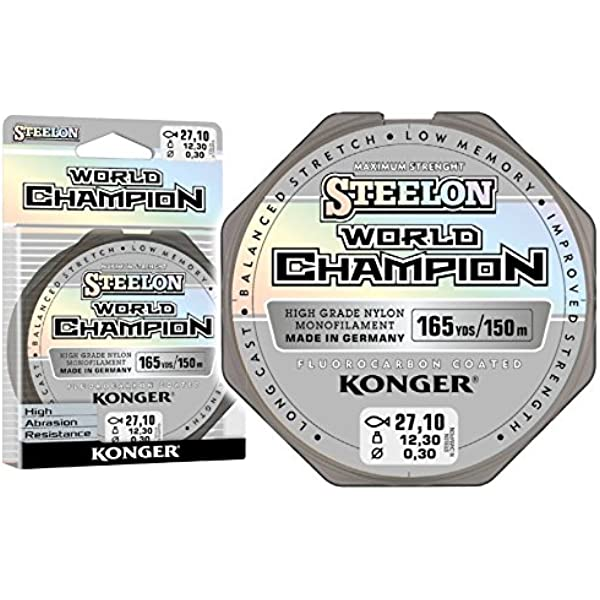 Konger Angel Cuerda steelon Carp /& Feeder fluorocarbono Coated 150/ m 0,20/  0,05/ /€//m / 0,40/ mm monofile Super Fuerte.
