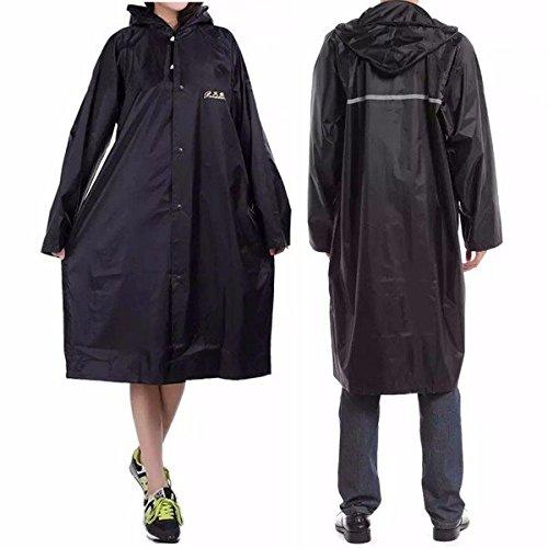 Bazaar Erwachsene Outdoor Regenmantel Lang Poncho Hood Thicker Reflektierende Typen Design Arbeit Reise Regenbekleidung
