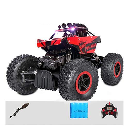 RC Auto Off-Road-Kletterer Truck , 2,4 GHz 4WD Hochgeschwindigkeits-Funkferngesteuerter Buggy - Kinderspielzeug Electric Boy Drahtlose Fernbedienung Auto Geschenk (Color : Red)