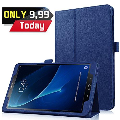 Galleria fotografica Galaxy Tab A 10.1 (A6 2016) Custodia Cover, HZSSEC Ultra Sottile Leggero Case per Samsung Galaxy Tab A 10,1 pollice T580 T585 Tablet, Blu scuro