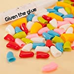 Qiao Niuniu New 20Pcs/Lot Colorful Soft Pet Dog Cats Kitten Paw Claws Control Nail Caps Cover #apowu522# (color: Red… 19