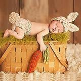 Ularma Babyanzug Baby Stricken Wolle Kostüm Foto Fotografie Prop Bekleidungsset (4)