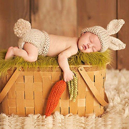 Ularma Babyanzug Baby Stricken Wolle Kostüm Foto Fotografie Prop Bekleidungsset (4) (Baby-wolle-kleidung)