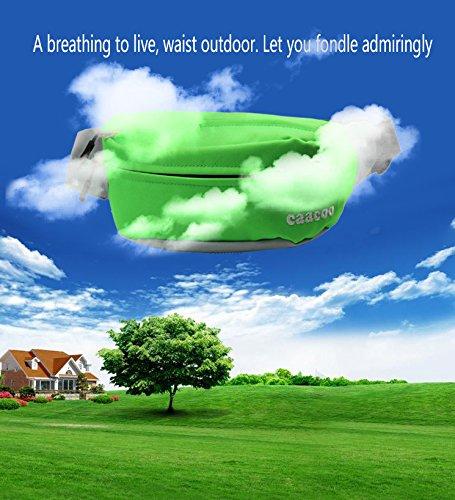 caacoo Cool Bum Tasche/wasserdicht Taille Pack/Fanny Pack für draußen Workout Reisen Casual Laufen Wandern Radfahren grün