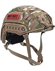 OneTigris táctica tipo PJ rápido casco para Airsoft Paintball casco con gamuza para, camuflaje