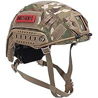 OneTigris Casco táctico, rápido, tipo PJ, con cubierta extraíble para airsoft paintball, MC Camouflage