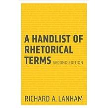 A Handlist of Rhetorical Terms by Lanham, Richard A. (2012) Paperback