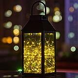 Solar Laterne, Tomshine Solar Garten Laterne, Dekorative Kupferdraht 30 LED Lichterkette Solarlampen, IP44 Wasserdicht für Außen und Innenbereich