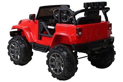 RC Auto kaufen Kinderauto Bild 3: Actionbikes Motors Kinder Elektroauto Offroad Jeep 2 x 35 Watt (Rot)*