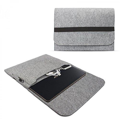 eFabrik Schutz Hülle für Acer Swift 7 Tasche 13.3 Zoll Ultrabook Notebook Case Soft Cover Schutzhülle Sleeve Filz hell grau