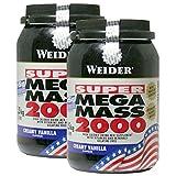 WEIDER Mega Mass 20002x 1500g Lot de 2