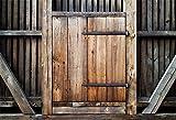 EdCott 7x5ft Puerta de Madera Antigua Telón de Fondo Puerta de Madera Dura Puerta de Bloqueo Granero Entrada Foto Gota atrás Retrato Fotografía de Viaje Fondo Accesorios de Estudio