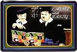 Blechschild Laurel und Hardy Dick und Doof 20 x 30 cm Reklame Retro Blech 717