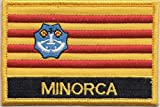 Menorca Islas Baleares España Bandera Bordada rectangular parche Badge