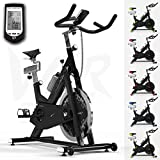We R Sports RevXtreme Indoor Aerobic Exercise Bike / Cycle Fitness Cardio Workout Machine - 22KG Flywheel (White)