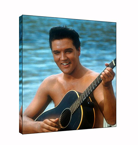 Elvis Presley Hawaii Foto Druck auf Holz Rahmen Leinwand, 12x 8inch -38mm depth (Hawaii-foto-rahmen)