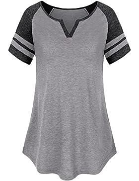 Dromild Raglan T-shirt scollo a V a manica corta con scollo a V Raglan