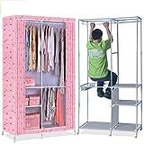 N&B Kleider Schrank tragbarer Speicher Organizer kleiderschrank mit vliesstoff - Extra Stark und Langlebig - zwischenraum Sicherheit von Kleidung -B 101.5x189cm(40x74inch)