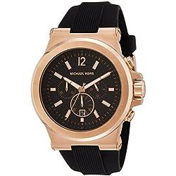 Michael Kors MK8184 - Reloj (Reloj de pulsera, Masculino, Oro, Silicona, Negro, Alrededor)