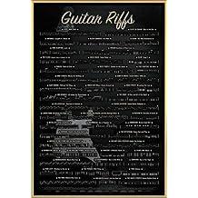 Instrumentos Musicales Póster con Marco (Plástico) - Guitar Riffs (91 x 61cm)