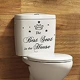 zooarts le meilleur Siège de la maison autocollant Stickers WC toilette Citation amovible chambre stickers muraux stickers vinyle Home Art Decor Papier peint