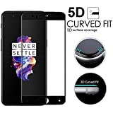HIMTAJ Premium 5D Tempered Glass Screen Protector - 9H FULL GLUE Full HD, Shatterproof, Anti Scratch Screen Guard For OnePlus 5 /1+5 BLACK EDITION