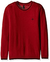United Colors of Benetton Boys Sweater (16A1032C1319G281S_Maroon_S)