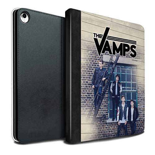 The Vamps PU Pelle Custodia/Cover/Caso Libro per Apple iPad PRO 12.9 2018/3rd Gen Tablet/Diario Servizio Fotografico Disegno