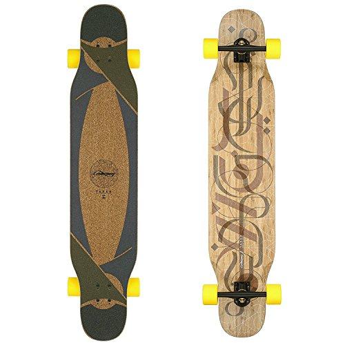 Bamboo Longboard Skateboard Complete (86a Stimulus, Flex 2) ()